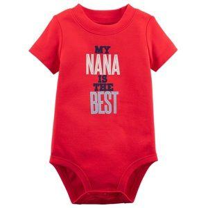 5/$25 Carter's 'Nana' Bodysuit